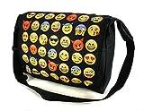 Ferocity Borsa Messenger cartella del messaggero Laptop Bag Emoji Black [052]
