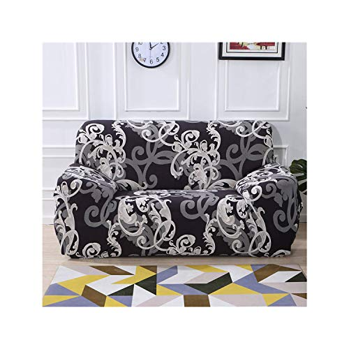 HGblossom Blumendruck Stretch Elastische Sofabezug Baumwolle Sofa Handtuch rutschfeste Sofabezüge Für Wohnzimmer Voll Eingewickelt Anti Staub Colour20 2-Seater 145-185Cm