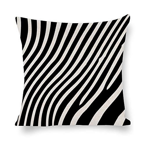 N/ A Animal Skins - Funda de cojín cuadrada para sofá (textura de cebra, lino, cuadrada, para sofá o sofá lp9gnenh9m6t), Lino, Como se muestra en la imagen, 24x24 inch