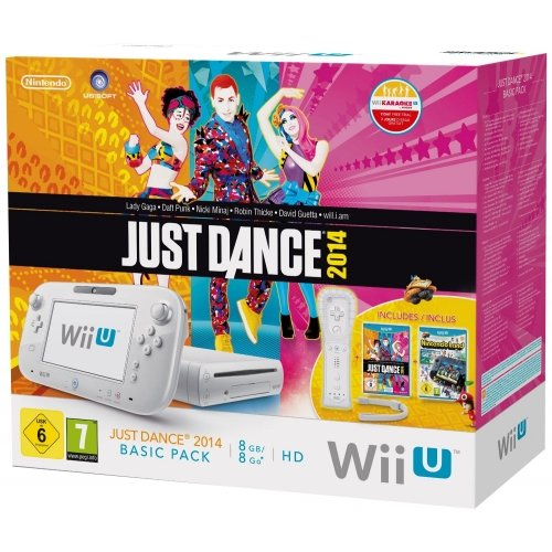 Wii U - Console 8 Gb, Bianco con Barra Sensore, Just Dance 2014 e Nintendo Land [Bundle]