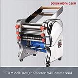 HYLH Sfogliatrice elettrica per Macchina per pressa a Rullo per Uso Domestico/Commerciale in Acciaio Inossidabile, FKM220