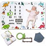 Manta Mensual De Hito Para Bebé,Manta Mensual De Bebé Para Fotos,Manta Para Fotografía,Chico Chica Unisex,Suave, Gruesa Y Grande