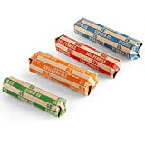 L LIKED 100 Assorted Bundle Flat Striped Coin Wrappers, 25 of Each(100 Assorted)...