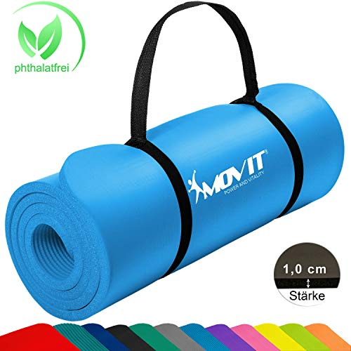 Movit® Tapis de Gymnastique Mat de Yoga sans phtalate Fitness...