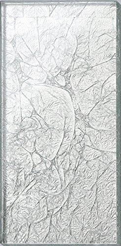 Glas Wand Fliese Silber mit Folien Effekt Fliese ist 7.5cm x 15cm. Die Stärke beträgt 6mm (MT0114)