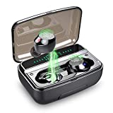 Wireless Headphones, IPX8 Waterproof Wireless Earbuds Bluetooth 5.0 Headphones 150H Playtime, 6D Stereo Sound Bluetooth Earbuds Earphones With Stereo Calls, Digital Display and Smart Touch Control