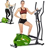 ANCHEER Under Desk Cycle,Pedal Exerciser,Under Desk Bike Elliptical Machine with Built in Display Monitor, Mini Desk Cycle Resistance Exercise Quiet & Compact. Electric Machine Trainer (Black-red)