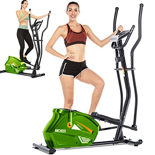 ANCHEER Elliptical,Exercise Equipment,Elliptical Machines for Home Use,Cross Trainer Machine with 10-Level Resistance and LCD Monitor
