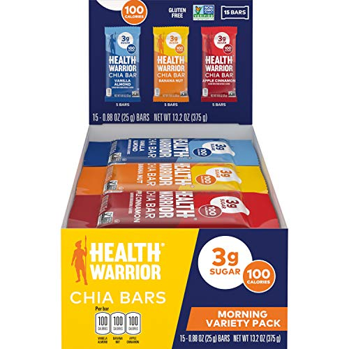 Health Warrior Chia Bars Variety Pack 15 Count Now $6.77 (Was $23.78)