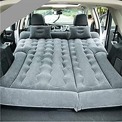 goldhik SUV Car Travel Inflatable Mattress Camping Air Bed Dedicated Mobile Cushion Extended Outdoor for SUV Back Seat(Grey)