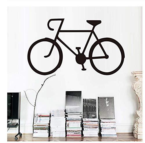 Tatuajes de pared Vinilo PVC Pegatina Bicicleta Pegatinas de pared Sala de estar Bicicleta Silueta Niños Habitación Decoración para el hogar59 * 34