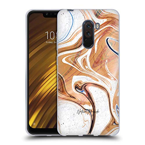 Head Case Designs Offizielle Nature Magick Holz Gold Marmor Metallisch Soft Gel Huelle kompatibel mit Xiaomi Pocophone F1 / Poco F1