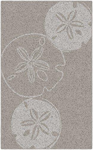 "Brumlow Mills EW10165-40x60 Beige Sand Dollars Neutral Seashell Beach Area Rug, 3'4"" x 5'"