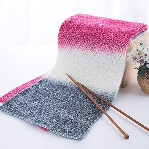 Yanxinejoy geweven sjaalgaren, segmentgeverfde wol, handgeweven doe-het-zelf-wol, chique mannen en vrouwen vrienden dikke wol A4.