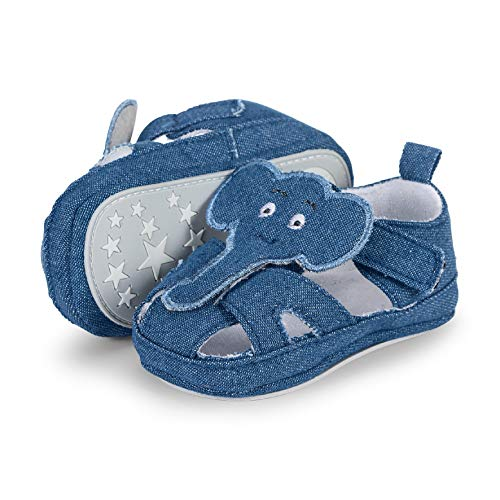 Sterntaler Baby Jungen Sandale Slipper, Blau (Marine 300), 16 EU