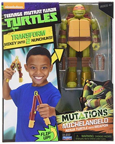 Teenage Mutant Ninja Turtles Mutations Figure to Weapon Michelangelo Action Figur