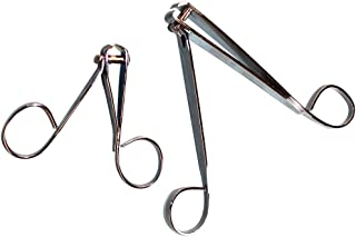 PPR Direct EZ Grip Nail Clippers Looped Handles Manicure Pedicure Grooming Set/2,metallic