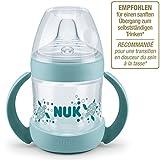 Nuk Nature Sense Trinklernflasche, Auslaufsicher, Extra Breite & Weiche...
