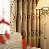 adaada Juego de 2 cortinas geométricas modernas para salón (245 x 140 cm, rojas)