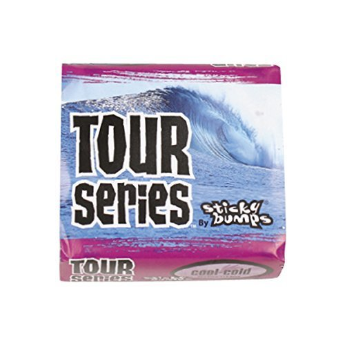 Sticky Bumps Tour Series Cool/Cold Surf Wax (Pack of 3), White by Sticky Bumps(wax Research)