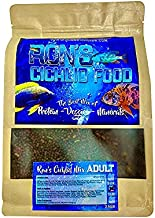 Ron's Adult Peacock, Hap & Cichlid Food | Adult Cichlid Pellets with Protein, Veggies, Fruit & Mineral | Leading to Healthier, Brighter & More Robust African Cichlids | Cichlid Pellets (1lb)