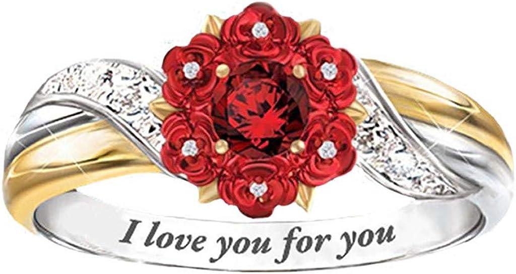 Eule Hohler Diamantblumenring Elefantenbaby Delphin Liebesrosenring K/äTzchen Hniunew Damenring Offener Ring