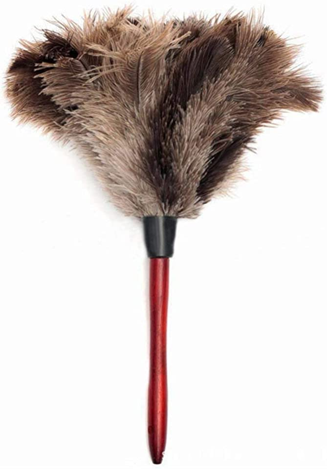 Yantan Ostrich Feather Duster Thick and Soft Feathers Duster From furniture to fan blades of various jobs Efficient Dusting