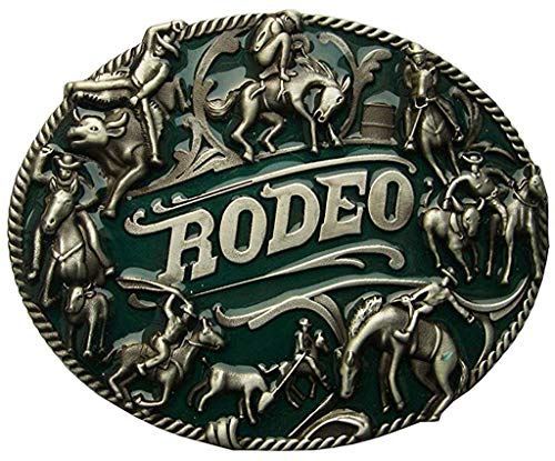 Película Oeste Rodeo Hebilla con Cowboys y Caballos - Hebilla