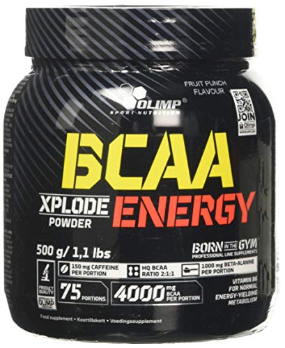 Olimp Nutrition BCAA Xplode Energy, Fruit Punch, 500 g