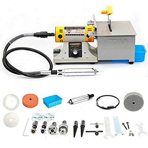 Best Buy! TOPCHANCES 220V TM-2 0-10000r/min Jewelry Rock Polishing Buffer Machine Bench Lathe Bencht...