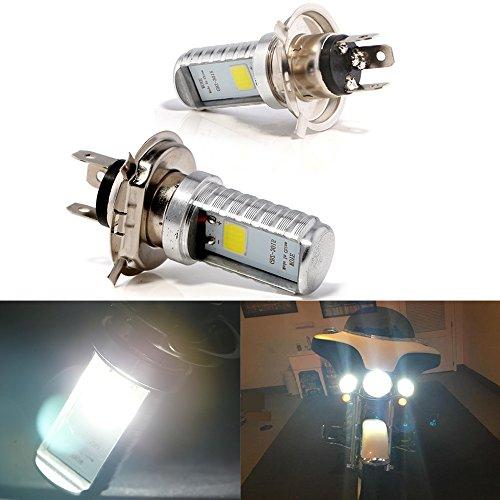 Bombillas LED Grandview H4, 2pcs Bombillas Delanteras Delanteras Para Motocicletas H4 Blancas, Bombillas Para Luces Delanteras Para Motocicletas H4 de Haz Alto/Bajo H4 (DC 9-80V)