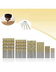 Mohooo Spiraalboorset, 60 stuks, 1/1,5/2/2,5/3/3,5 mm, metaalboor, HSS stalen boorset voor hout, kunststof en aluminium, koper en staal