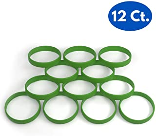 Reminderband 12 Count Pack Blank 100% Silicone Wristbands - Silicone Rubber Bracelet - Motivation, Events, Gifts, Support, Causes, Fundraisers, Awareness - Men, Women, Kids