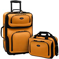 2-Piece U.S. Traveler Rio Rugged Fabric Expandable Carry-On Luggage Set