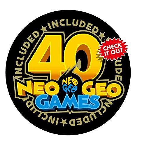 NEOGEO Mini Console: International Edition + 2 x NEOGEO Mini White Controllers (Includes 40 Games)
