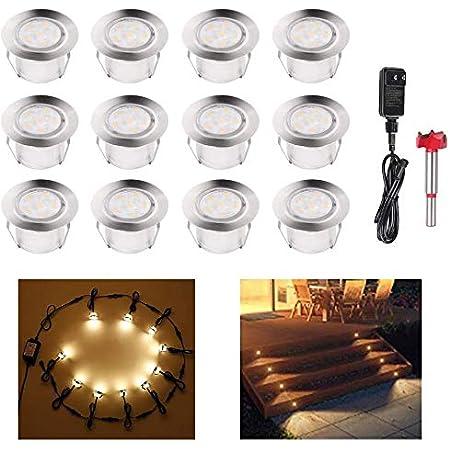 230v Garden Patio Floor Recessed Lights Bodo gu10 Incl LED Bulbs 3w