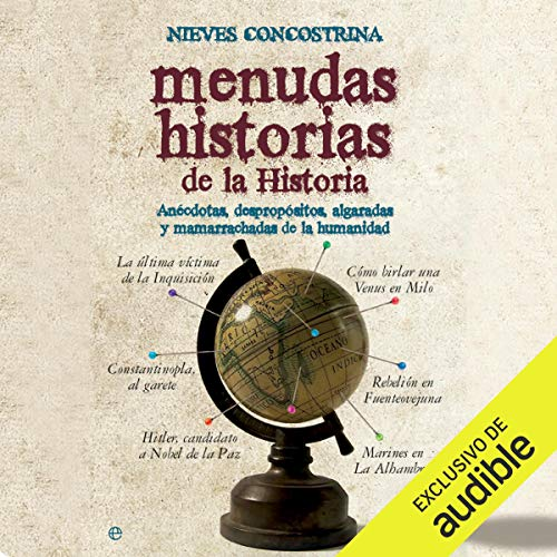 Diseño de la portada del título Menudas historias de la historia