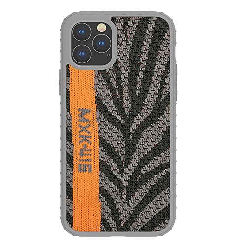 SLSMD telefoonhoesje voor iPhone 11, elastiek rubber en breien Yeezy 350 Sneakers stof mobiele telefoonhoesje mobiele telefoonhoes voor iPhone 11