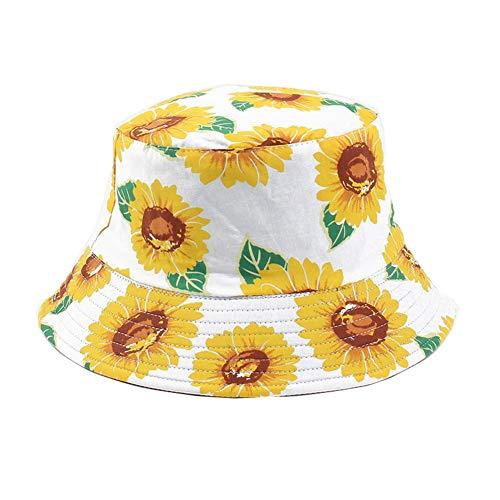 YAMEE Sombreros de cubo de moda unisex impresos para verano, pescador, viajes, playa, para hombre y mujer