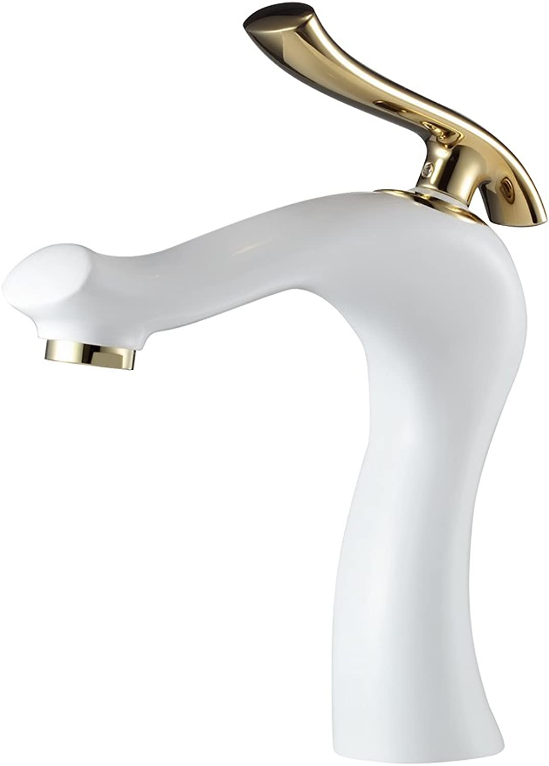 HeMu Waterfall Single Handle Bathroom Sink Faucet One Hole Deck Mount Oil Rubbed Bronze Lavatory,Chrome Finish (White)
