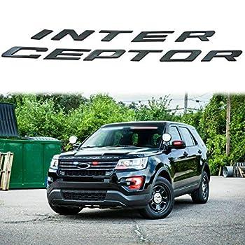 Explorer Front Hood Police Interceptor Badge Emblem Replacement For Crown Victoria SUV   MATT BLACK