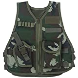 Chaleco táctico para niños Ejército de camuflaje Chaleco de asalto...