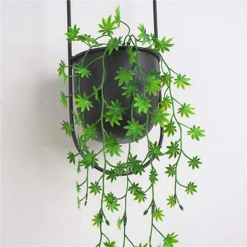 TONGADA Planta Artificial de la Vid 109cm Fake Plastic Plant Verde Pared de la Hoja Plantas Colgantes Artificiales Bonsai Vine jardín Decoración del hogar