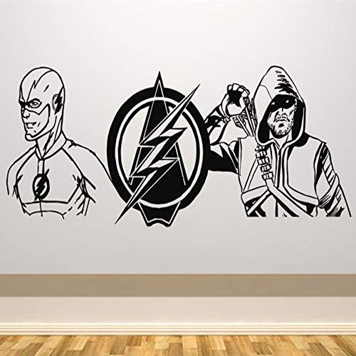 yaofale PVC-Pegatinas de Pared-Flash Arrow Art Deco Dibujos Animados Vinilo Sala de Estar Etiqueta de la Pared extraíble Etiqueta de la Pared