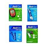 ReliOn Prime Blood Glucose Monitoring System | Relion Lancing Device | ReliOn 30G Ultra-Thin Lancets, 100-ct | ReliOn Prime Blood Glucose Test Strips, 25-ct | Bundled Set of 4