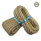 BITUL Cuerda de yute trenzada, diámetro de 6 hasta 60 mm, color marrón claro, fibras naturales, cuerda decorativa para manualidades, macramé, cuerda, cuerda de jardín, pasamanos (30 mm, 5 metros)
