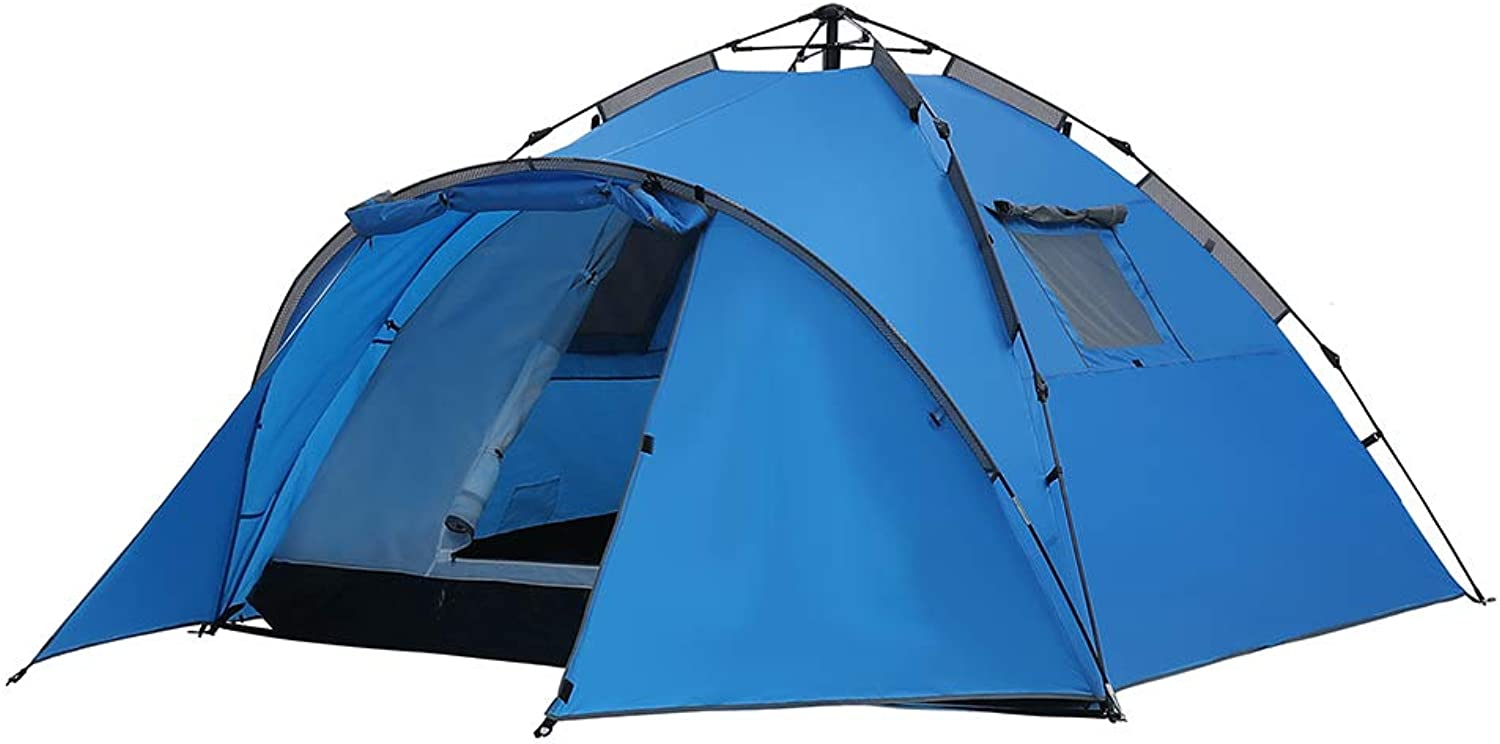DYFAR Dome Camping Tents, Beach Waterproof Ultralight Tent Quick Set up Portable Folding Festival Tent for Backpack Travel by Walking Sports Outdoors Peak, blueee