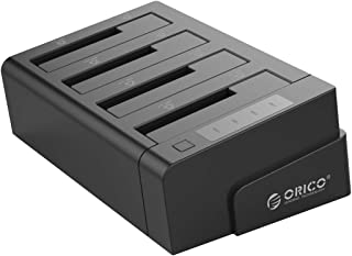 ORICO 40TB USB 3.0 to SATA I/II/III 4 Bay External Hard Drive Docking Station with Offline Clone for 2.5 or 3.5 inch HDD, ...