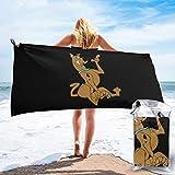 Sunmuchen Leave it to me Toalla de baño para perro, toalla de gimnasio, toalla de playa, uso multiusos para deportes, viajes, súper absorbente, microfibra suave de secado rápido, ligero