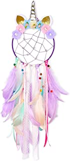 Basumee Unicorn Dream Catcher Wall Decor Cute Feather Dreamcatcher Wall Hanging for Bedrooms Party